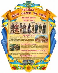 Стенд «Україна – край слави та волі»