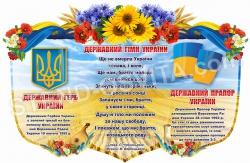 Стенд  «Державні символи» у квітах