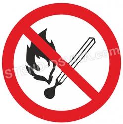 Табличка «Не разводить открытый огонь»