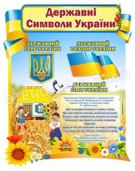 Дитяча державна символіка України на стіну