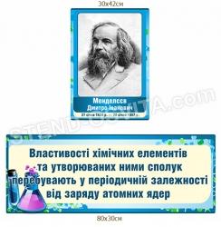 Вислів та портрет Менделєєва у кабінет хімії