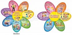 Права дитини та правила дружби у квіточках