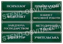 Рублена табличка на клас