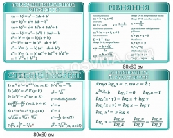 Комплект стендов по математике