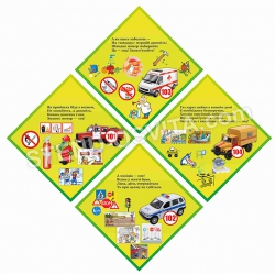 Стенд для детей по безопасности с картинками