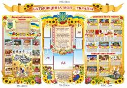 Комплект пластикових стендів «Батьківщина моя – Україна»