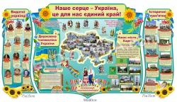 """Стенд """"Наше серце - Україна, це для нас єдиний край!"""""""