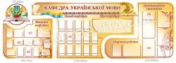 Комплект стендів для кафедри української мови
