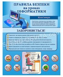 Стенд «Правила безпеки на уроці інформатики»