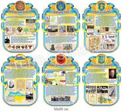 Комплект стендов  в кабинет истории Украины