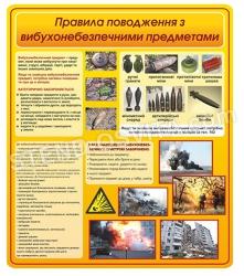 Стенд «Правила поведения со взрывоопасными предметами»