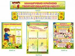 Комплект стендов для оформления кабинета начальной школы