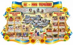 """Стенд """"Це моя Україна"""" з народними символами і ремеслами"""
