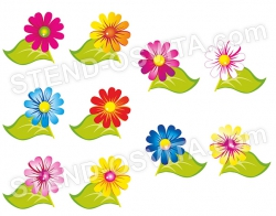 Цветы с клипсами для крепления информации