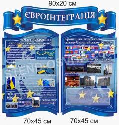 Комплект стендів «Євроінтеграція»
