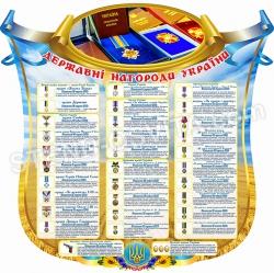 """Стенд """"Державні нагороди України"""""""