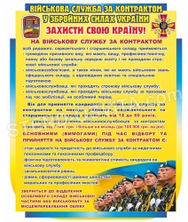 """Стенд """"Військова служба за контрактом у ЗСУ"""""""