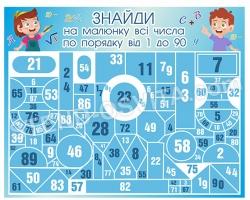 Гра «Знайди на малюнку всі числа по порядку від 1 до 90»
