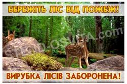 Вивіска на композитній основі « Бережіть ліс від пожеж!»