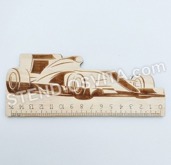 """Лінійка дерев'яна """"Формула 1"""""""